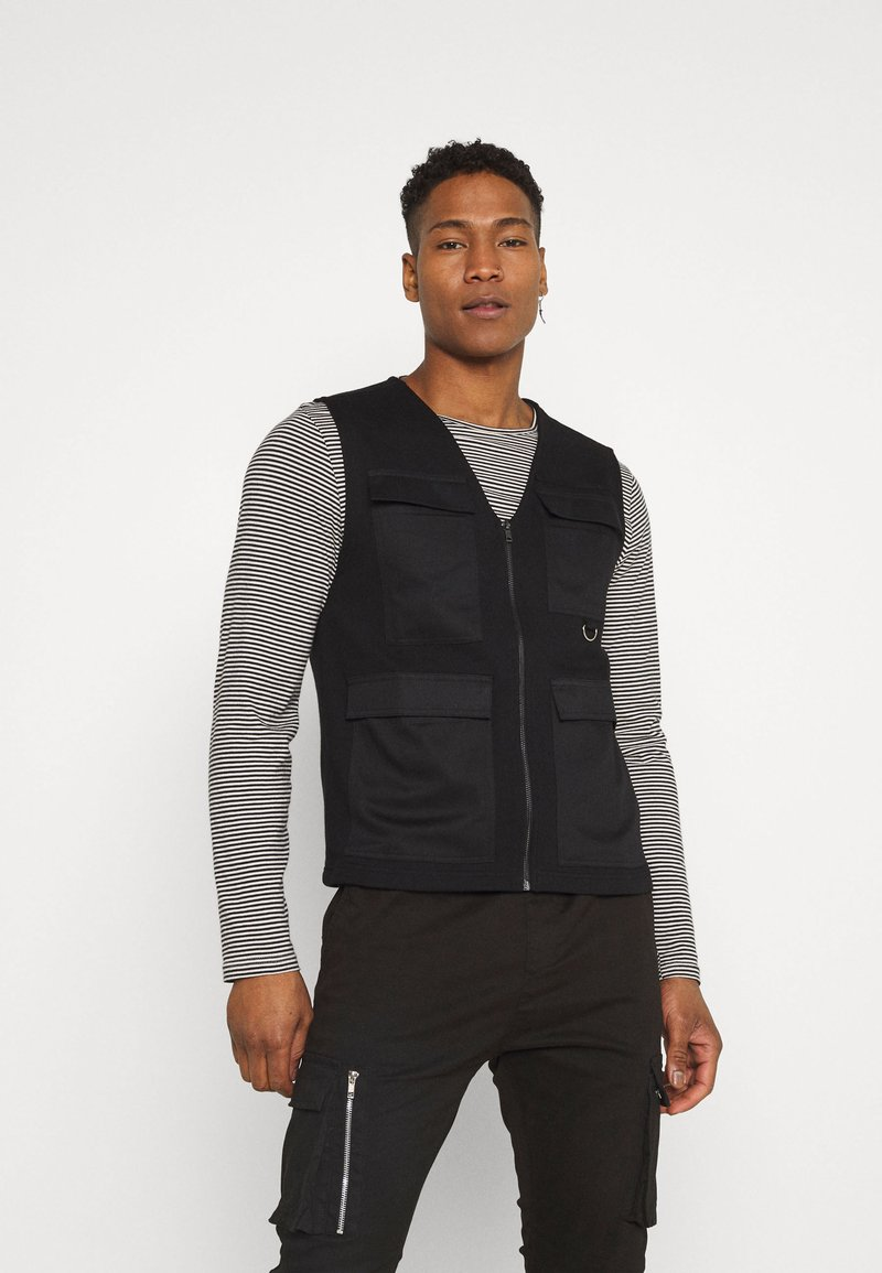 Only & Sons - ONSKING LIFE  - Waistcoat - black