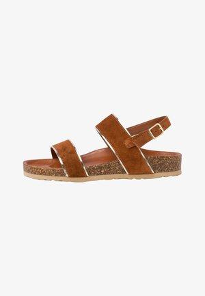 Sandalen met sleehak - muscat comb