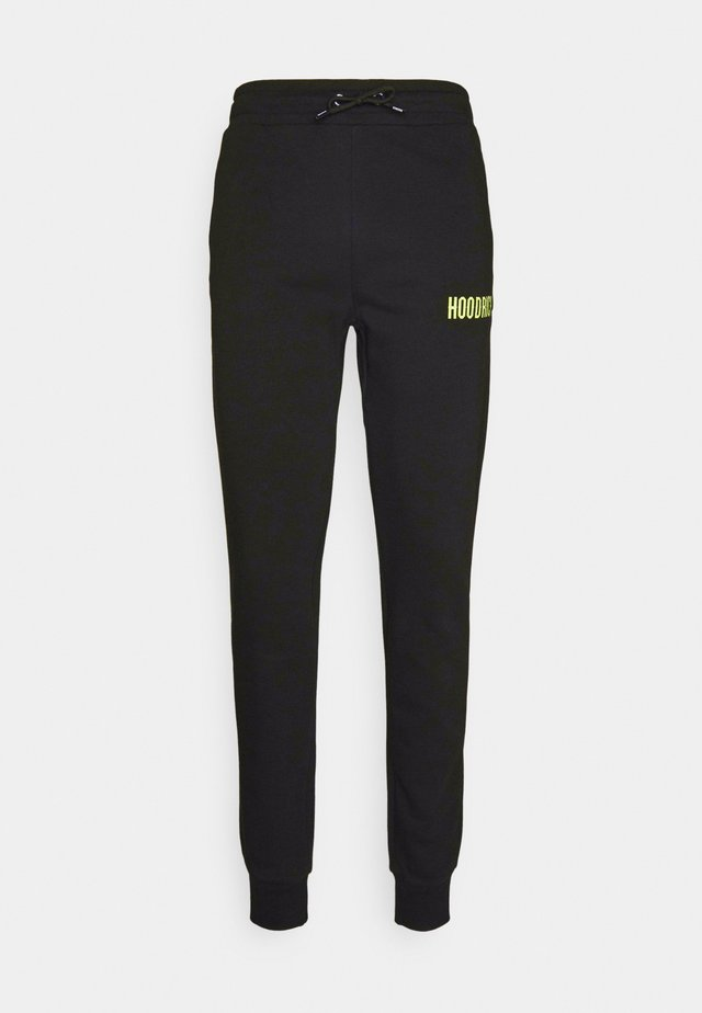 CORE JOGGERS - Joggebukse - black/lime