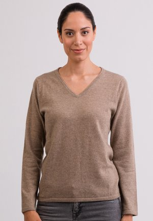 Strickpullover - taupe hell