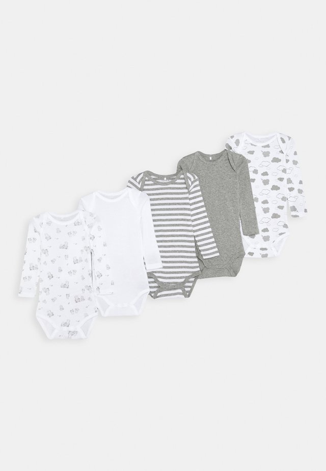NBNBODY CLOUDS 5 PACK UNISEX - Body - grey melange