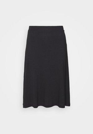 BASIC - Midi skirt - A-snit nederdel/ A-formede nederdele - black