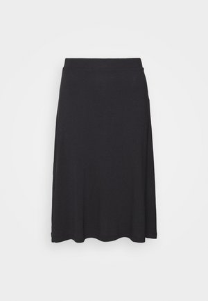 BASIC - Midi skirt - Áčková sukně - black