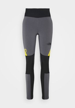 STEEP TECH - Legginsy - vanadis grey/black/lightning yellow