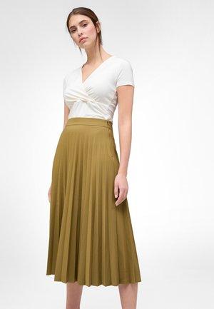 A-line skirt - beigegrün