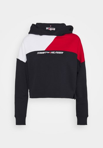 RELAXED COLOUR BLOCK HOODIE