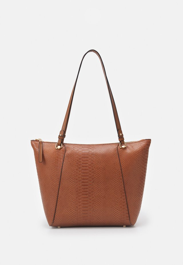 SHOPPER BAG SNAKIE SET - Shopping bag - camel
