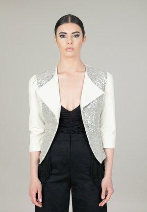GLAM - Blazer - silver/white