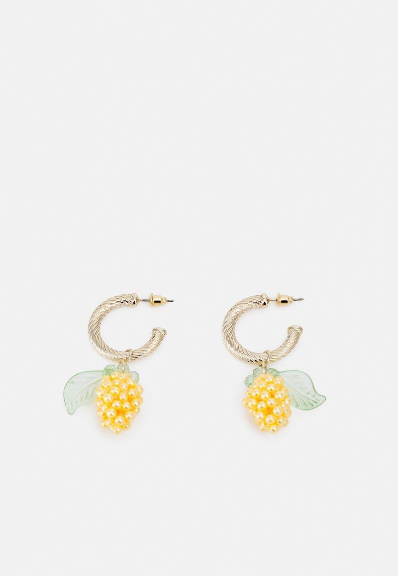 Topshop - LEMON DROP HOOP - Earrings - yellow