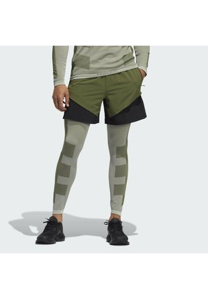 STU TURF SL LT PRIMEGREEN TECHFIT WORKOUT COMPRESSION LEGGINGS - Leggings - green