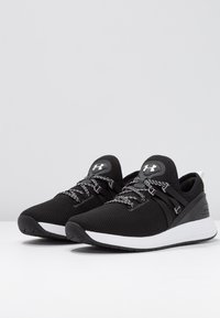 Under Armour - W BREATHE TRAINER - Sportschoenen - black/white - 2