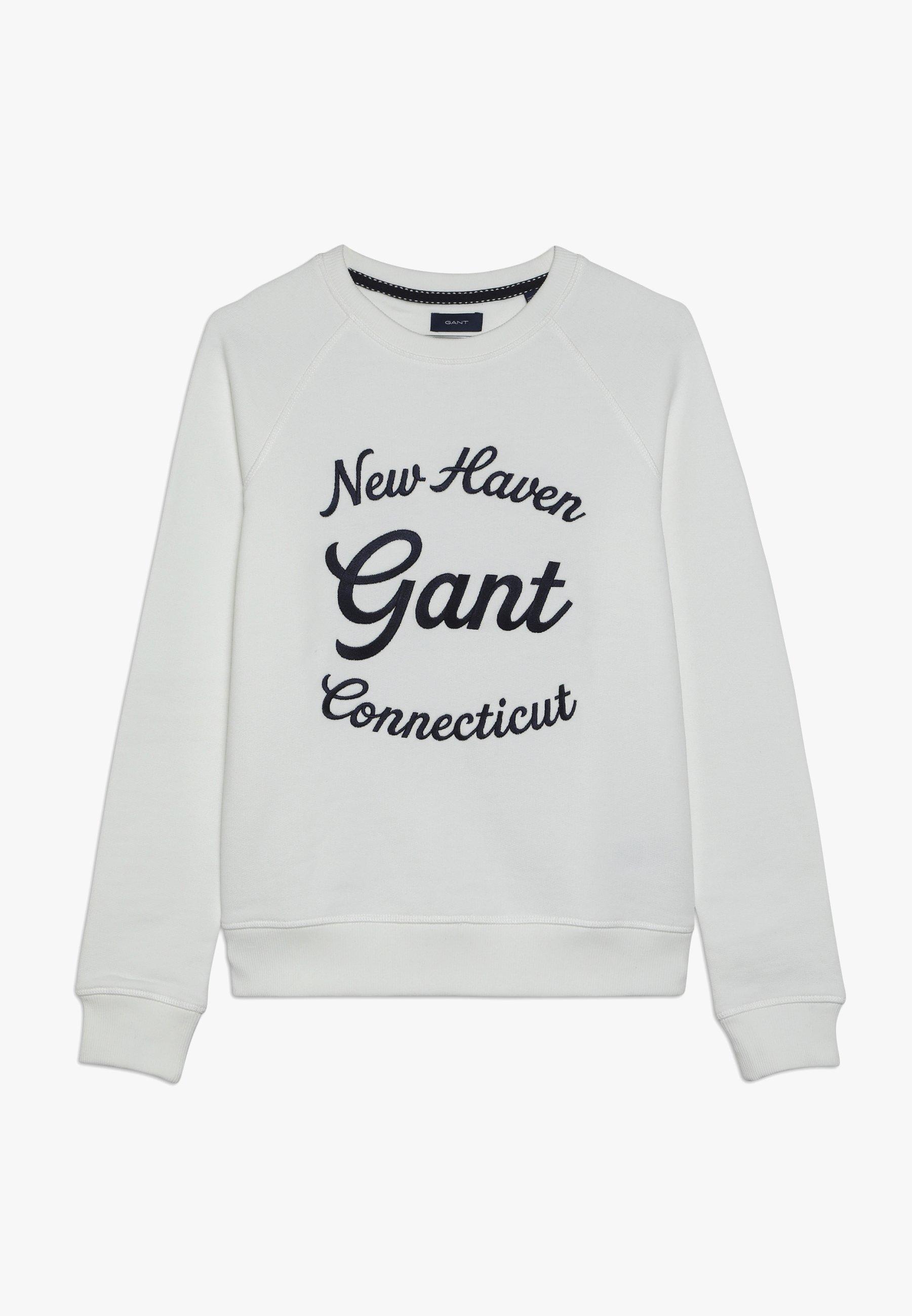 Große Förderung GANT SCRIPT C-NECK - Sweatshirt - eggshell   Damenbekleidung 2020