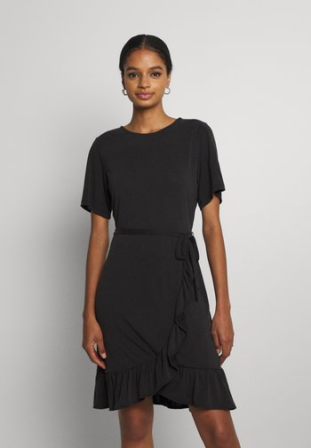 VIKALIE DRESS - Jersey dress - black