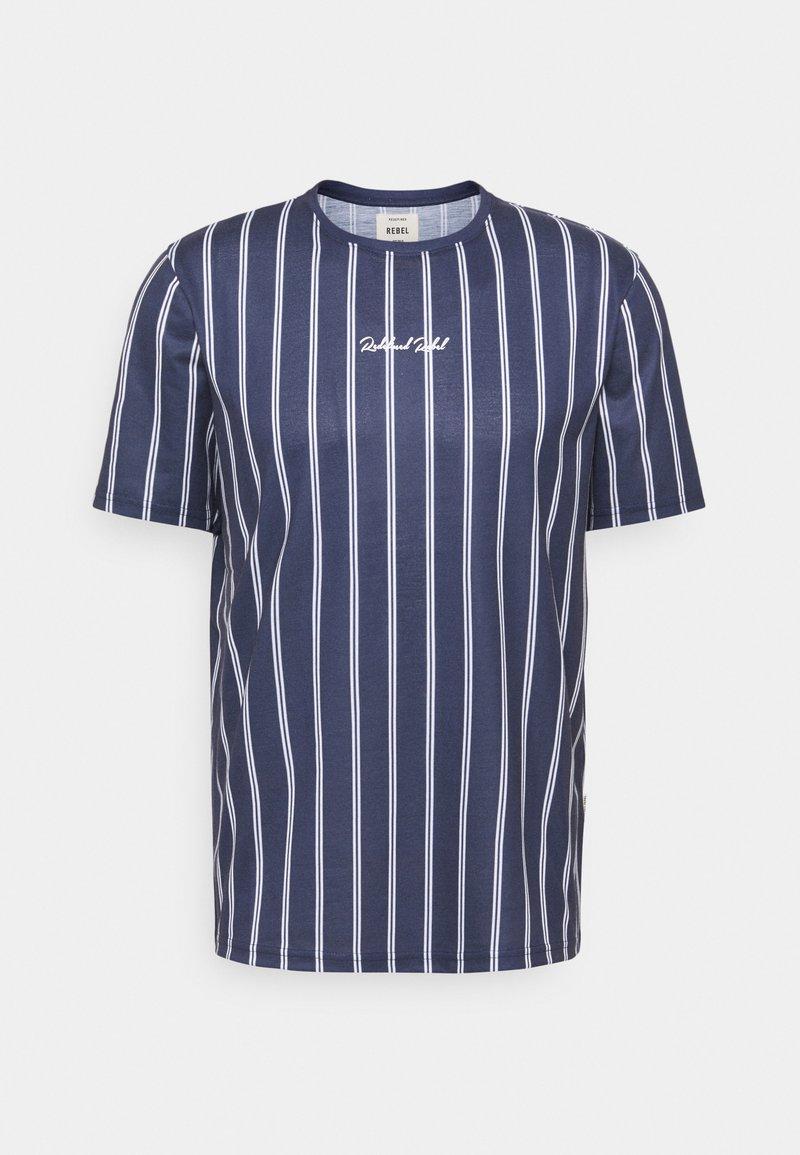 Redefined Rebel - JETT TEE UNISEX - Print T-shirt - dark navy