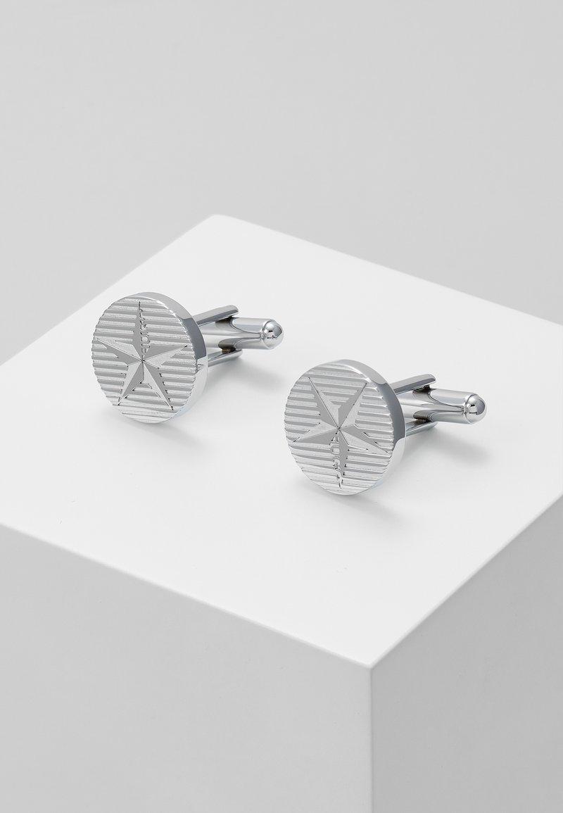 HUGO - E-STARROUND - Spinka do mankietów - silver-coloured