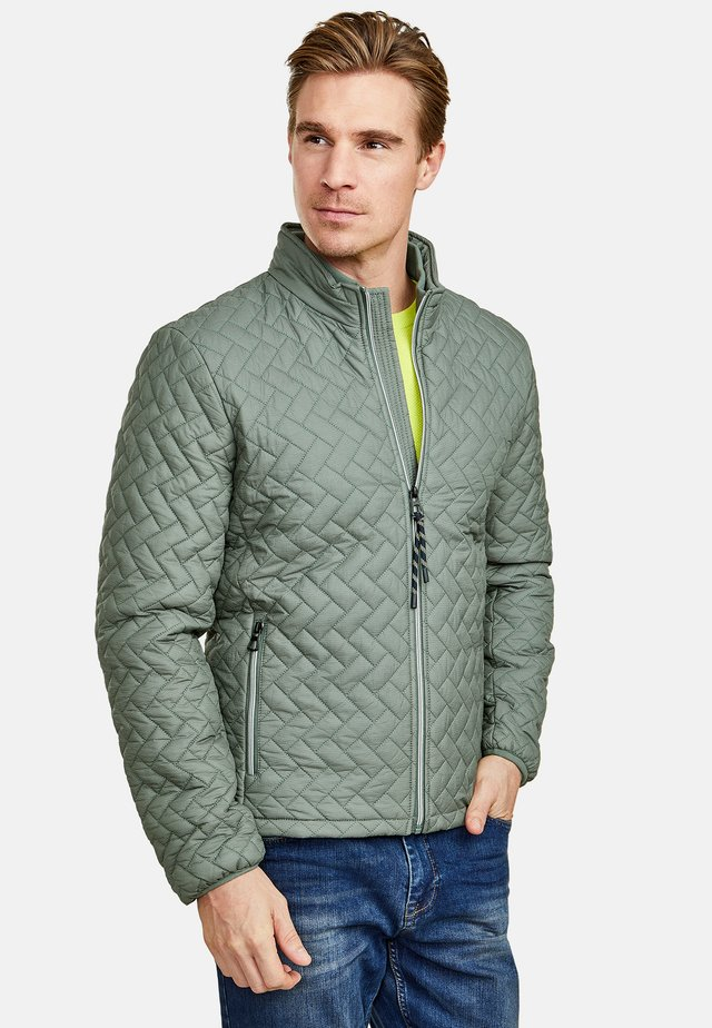 Winter jacket - mottled light green