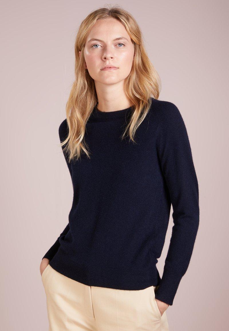 pure cashmere - CLASSIC CREW NECK  - Strickpullover - navy