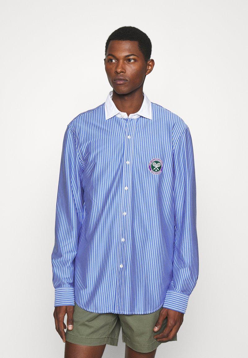 Polo Ralph Lauren - INTERLOCK FULL ESTATE - Shirt - court blue/white