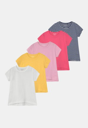 GIRLS KID 5 PACK - Triko s potiskem - multi-coloured
