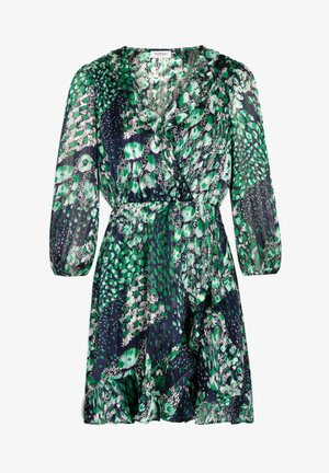 WITH ABSTRACT PRINT - Robe d'été - dark blue