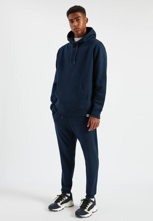 SET - Hoodie - mottled dark blue