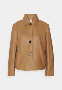 BARBICAN - Leather jacket - braun