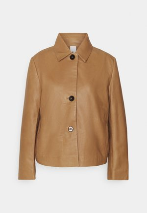 BARBICAN - Leather jacket - braun