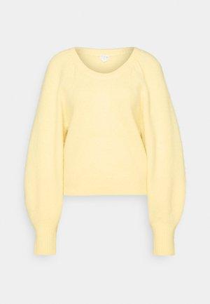 SWEATER - Strikkegenser - soft yellow