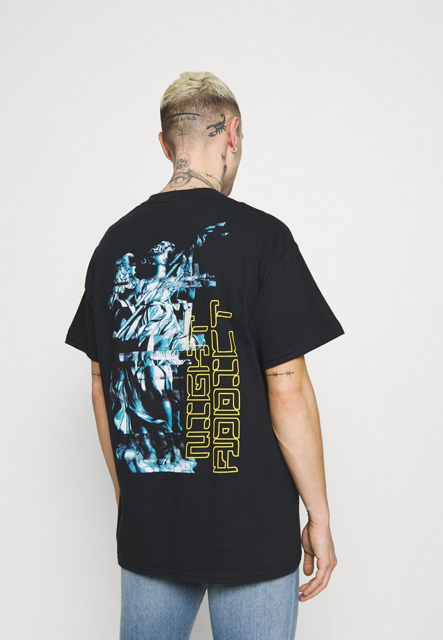 GLITCH - T-shirt con stampa - black