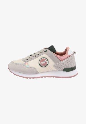 TRAVIS - Sneakers laag - warm grey / green / rose