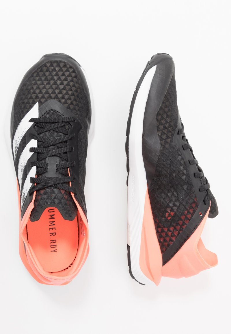 adidas Performance - RAPIDAFAITO SUMMER.RDY - Competition running shoes - core black/footwear white/signal coral
