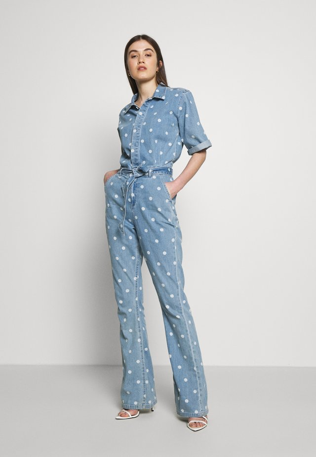 MAARTJE - Jumpsuit - denim/off-white