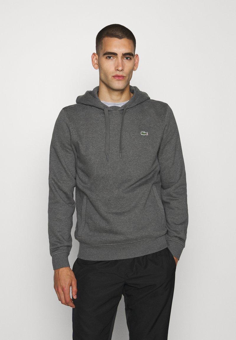 Lacoste Sport - CLASSIC HOODIE - Bluza z kapturem - pitch chine/graphite sombre