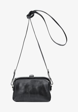 Across body bag - glossy black