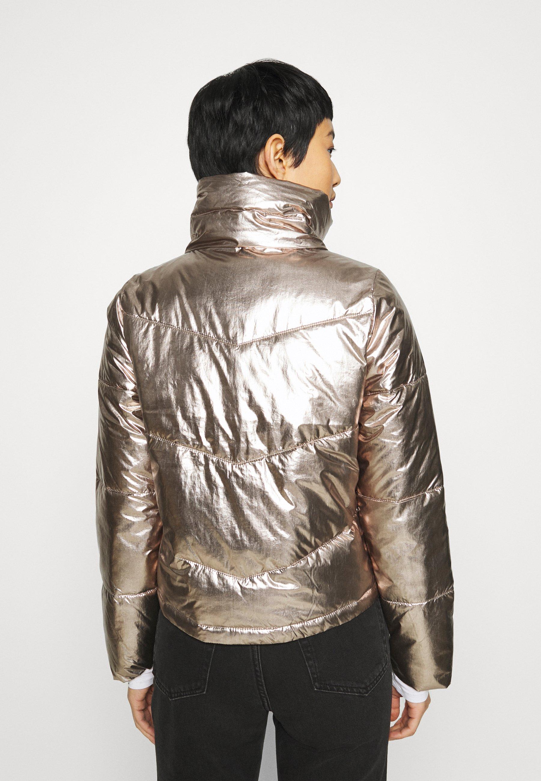 Abercrombie & Fitch Winterjacke metallic/silber