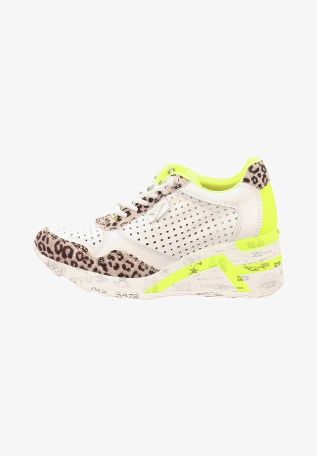 Trainers - baby leopard grey white