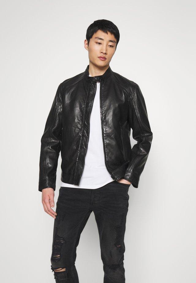 MELBOURNE - Leather jacket - black