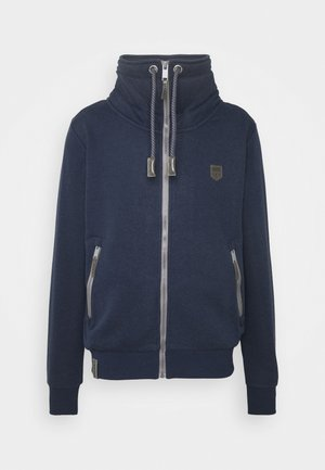 JACKET - veste en sweat zippée - blue denim melange