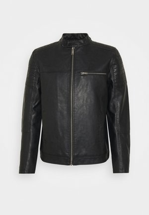 RACER - Faux leather jacket - black