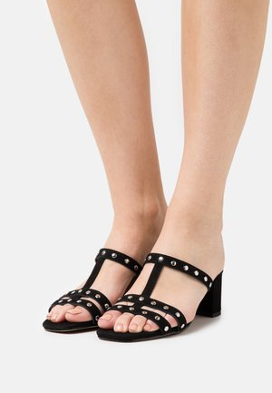 DARLENE - Heeled mules - black
