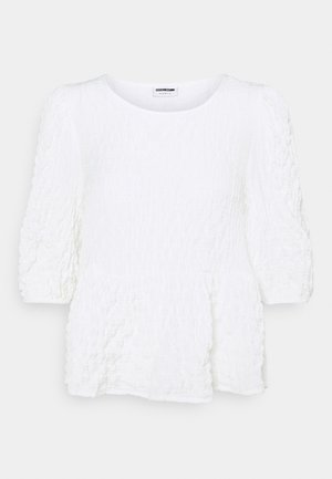 NMSTINE 3/4 SLEEVE  - Long sleeved top - bright white