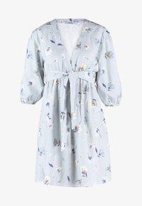NA-KD - DEEP V MINI DRESS - Robe d'été - blue - 6