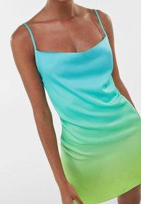 Bershka - Robe d'été - turquoise - 3