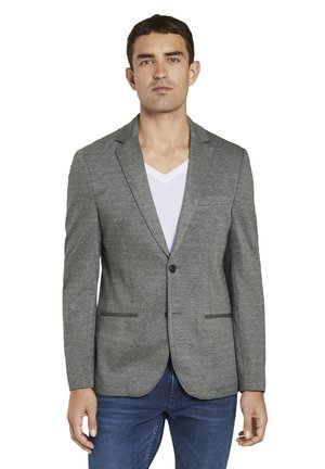 Blazer jacket - grey minimal structure