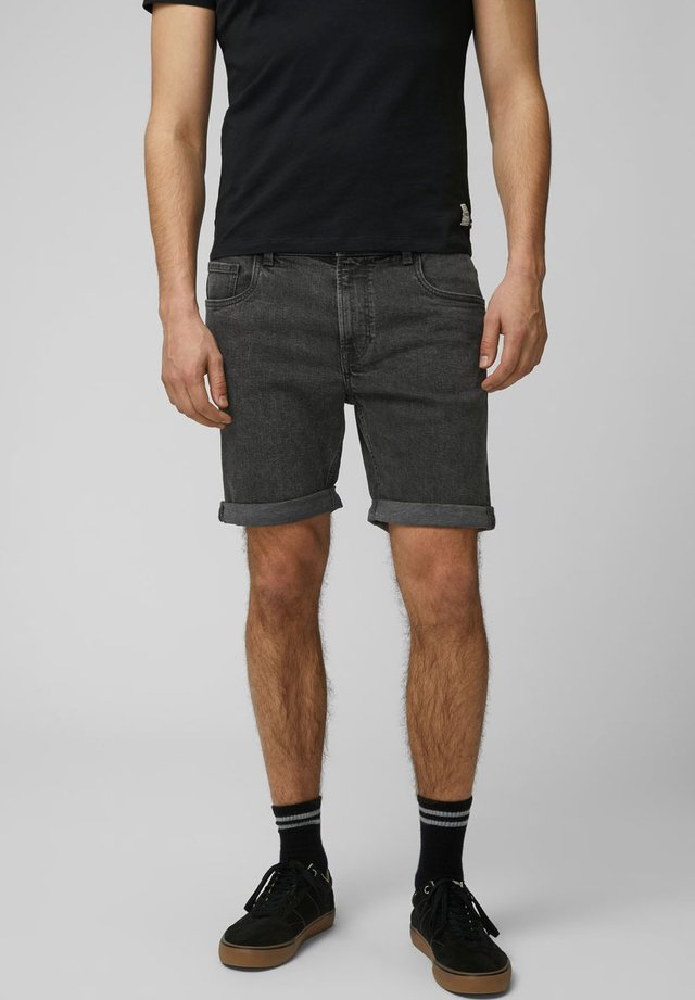 KLASSISCHE - Short en jean - dark grey denim