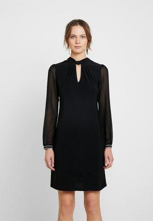 LONG SLEEVE ITY TRIM CUFF SHIFT DRESS - Žerzejové šaty - black