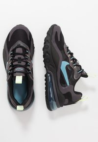 Nike Sportswear - AIR MAX 270 REACT - Sneakers basse - black/cerulean/thunder grey/barely volt - 0