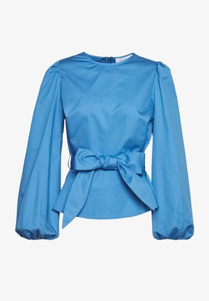 WITH PEPLUM - Blusa - sea blue
