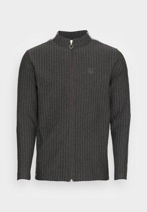 SMART ESSENTIALS FULL ZIP THOUGH DRILL - Zip-up sweatshirt - black
