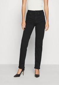 Anna Field - STRAIGHT LEG - Straight leg jeans - black denim - 0